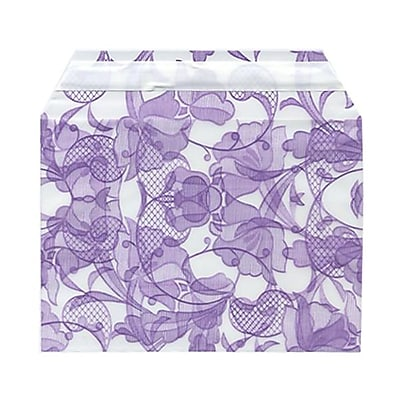 JAM Paper® Cello Sleeves, A6, 4 5/8 x 6 7/16, Purple Lace, 100/pack (2785502)