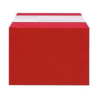 JAM Paper® Cello Sleeves, A7, 5 1/16 x 7 3/16, Red, 100/Pack (56SRD1)