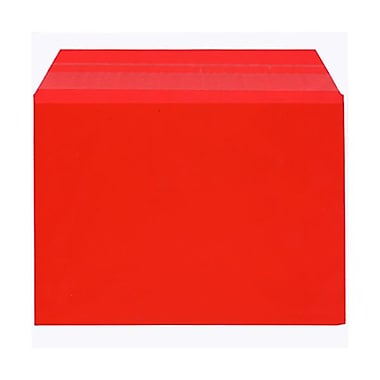 JAM Paper® Cello Sleeves, A7, 5 1/16 x 7 3/16, Light Red, 100/Pack (5SRD1)