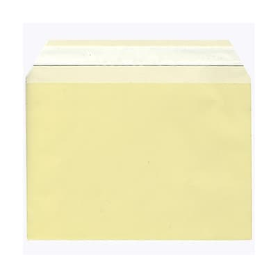 JAM Paper® Cello Sleeves, A7, 5 1/16 x 7 3/16, Yellow, 100/pack (2783139)