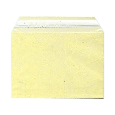 JAM Paper® Cello Sleeves, A7, 5 1/16 x 7 3/16, Yellow Fiber, 100/Pack (2785513)