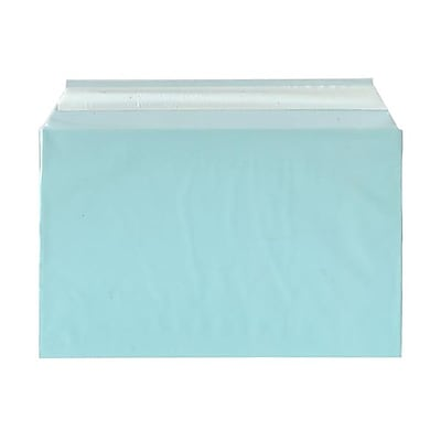JAM Paper® Cello Sleeves, A9, 5 7/16 x 8 5/8, Aqua Blue, 100/pack (2784901)