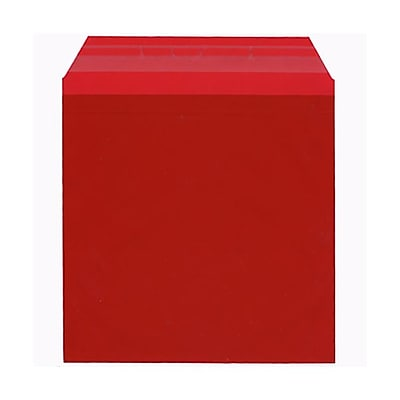 JAM Paper® Cello Sleeves, 6 1/16 x 6 3/16, Red, 100/pack (66RD1)
