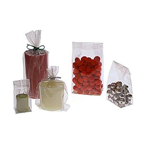 JAM Paper® Cello Bags, Small, 2 1/2 x 2 x 6, Clear, Bulk 100 Bags/Pack (FDA1B)