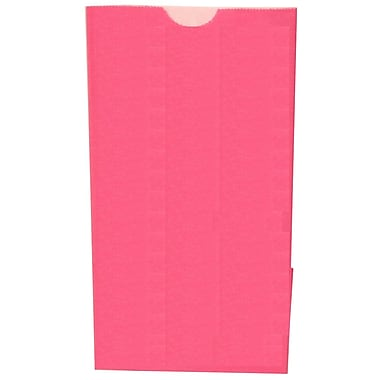 JAM Paper® Kraft Lunch Bags, Small, 4.125 x 8 x 2.25, Fuchsia Pink, 500/Pack (690KRFUB)