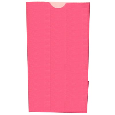 JAM Paper® Kraft Lunch Bags, Small, 4.125 x 8 x 2.25, Fuchsia Pink, 500/box (690KRFUB)