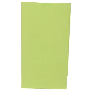 JAM Paper® Kraft Lunch Bags, Small, 4.125 x 8 x 2.25, Lime Green, 500/Pack (690KRLIGRB)