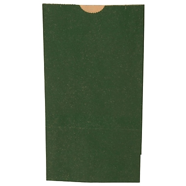 JAM Paper® Kraft Lunch Bags, Medium, 5 x 9.75 x 3, Dark Green, 500/box (691KRDKGRB)