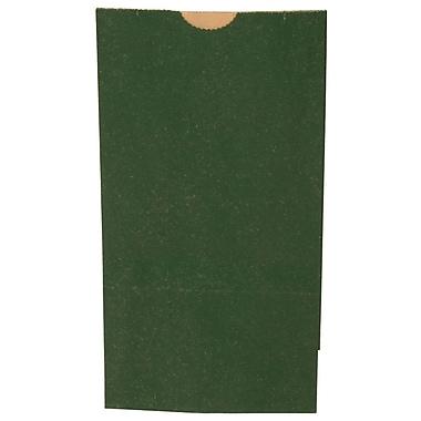 JAM Paper® Kraft Lunch Bags, Small, 4.125 x 8 x 2.25, Dark Green, 500/box (690KRDKGRB)
