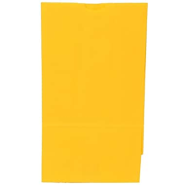 JAM Paper® Kraft Lunch Bags, Large, 6 x 11 x 3.75, Yellow, 500/Pack (692KRYEB)