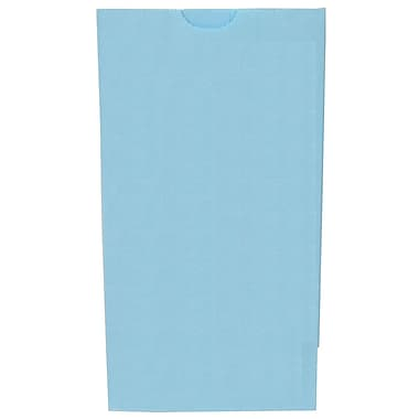 JAM Paper® Kraft Lunch Bags, Small, 4.125 x 8 x 2.25, Baby Blue, 500/box (690KRBABUB)