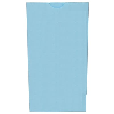 JAM Paper® Kraft Lunch Bags, Medium, 5 x 9.75 x 3, Baby Blue, 500/box (691KRBABUB)