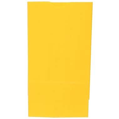 JAM PaperMD – Sacs-repas en papier Kraft, format moyen, 5 x 9,75 x 3 po, jaune, paq./500 (691KRYEB)