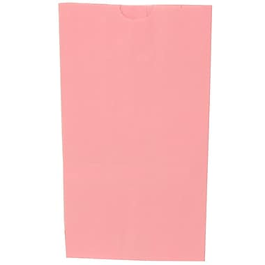 JAM Paper® Kraft Lunch Bags, Large, 6 x 11 x 3.75, Baby Pink, 500/box (692KRBAPIB)
