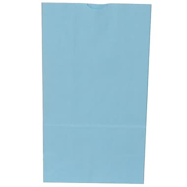 JAM Paper® Kraft Lunch Bags, Large, 6 x 11 x 3.75, Baby Blue 500/Pack (692KRBABUB)