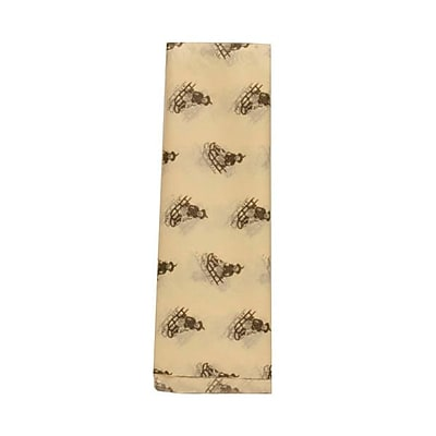 JAM Paper® Christmas Holiday Tissue Paper, Ivory with Brown Sled, 480/pack (211813408B)