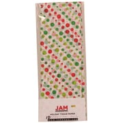 JAM Paper® Christmas Holiday Tissue Paper, Red and Green Christmas Dots, 8/pack (11824293)