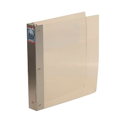 JAM Paper® Premium Acrylic 3 Ring Binder with Aluminum Spine, 1 Inch, Clear, Sold Individually (2191515317)