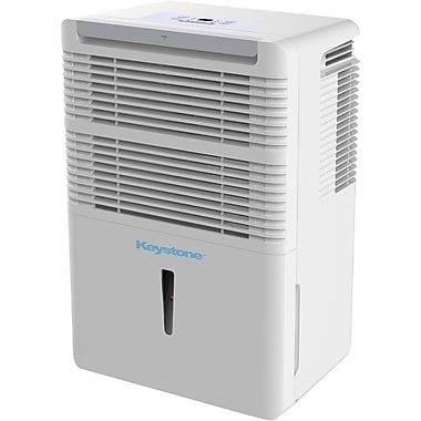 Keystone KSTAD70B 70-Pint Portable Dehumidifier, White