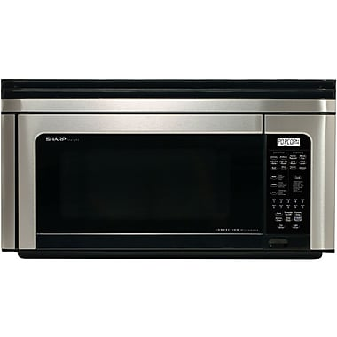 Sharp® 1.1 cu. ft. Over The Range Convection Specialty Microwave Oven, 850 W, Black/Stainless Steel