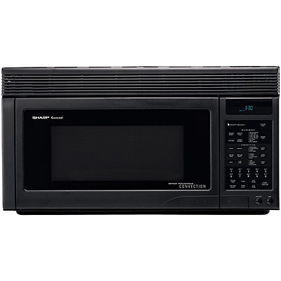 Sharp® 1.1 cu. ft. Over The Range Convection Specialty Microwave Oven, 850 W, Smooth Black