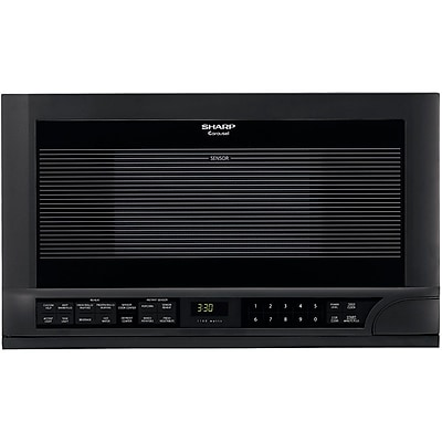 Sharp® 1.5 cu. ft. Over The Counter Compact Microwave Oven, 1100 W, Smooth Black