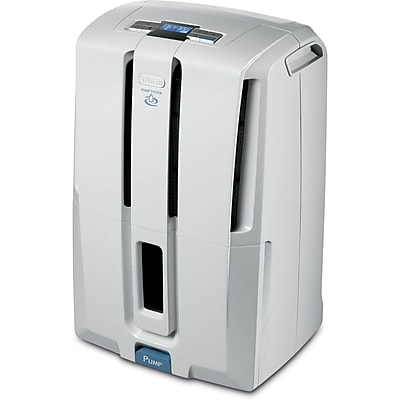 DeLonghi DD45PE 45 Pint Low Temp and Patented Pump E-Star Dehumidifier in White 10283