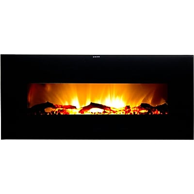 Frigidaire Valencia Widescreen Wall Hanging Electric Fireplace With Remote Control, Black 863329