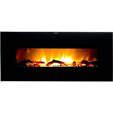 Frigidaire® Valencia Widescreen Wall Hanging Electric Fireplace With Remote Control, Black