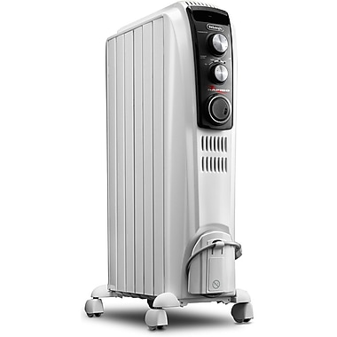 DeLonghi TRD40615T High Performance Radiant Heater With Mechanical Controls, White
