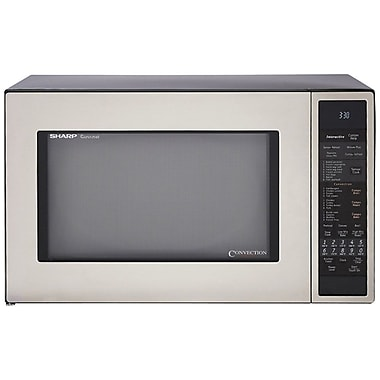 Sharp® 1.5 cu. ft. Convection Specialty Microwave Oven W/Interactive Sensor, 900 W, Stainless Steel