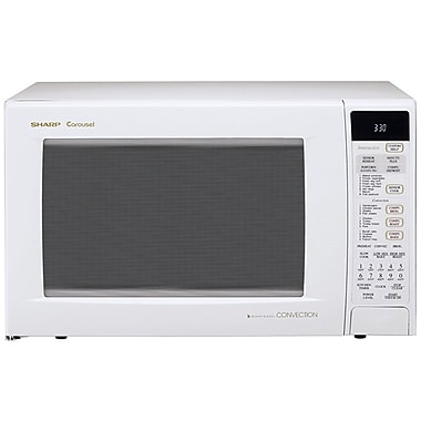 Sharp® 1.5 cu. ft. Convection Specialty Microwave Oven With Interactive Sensor, 900 W, Smooth White