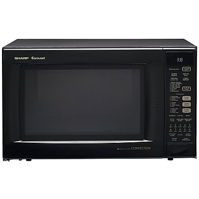 Sharp® 1.5 cu. ft. Convection Specialty Microwave Oven With Interactive Sensor, 900 W, Smooth Black