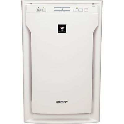 Sharp® 318 CFM HEPA 3 Speed Air Purifier With Plasmacluster® Ion Technology, White