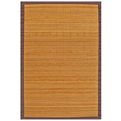 """Anji Mountain Rug Bamboo 48"""" x 72"""" Brown"""