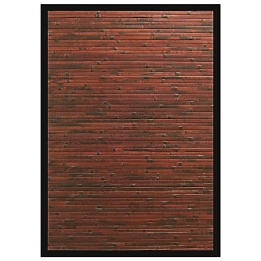 Anji Mountain Cobblestone Area Rug Bamboo 5' x 8' Brown