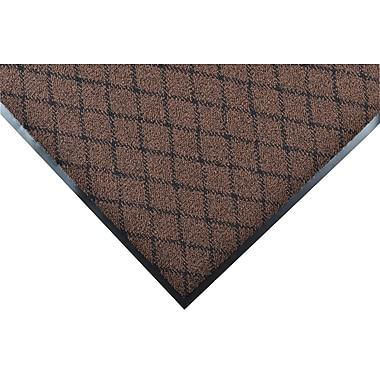 NoTrax® Evergreen Diamond™ Nylon Fiber Superior Entrance Floor Mat, 3' x 10', Brown