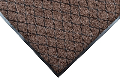 NoTrax® Evergreen Diamond™ Nylon Fiber Superior Entrance Floor Mat, 3' x 4', Brown
