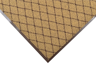 NoTrax® Evergreen Diamond™ Nylon Fiber Superior Entrance Floor Mat, 3' x 4', Gold