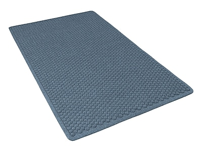 NoTrax® Aqua Trap® Tufted Polypropylene Yarn Superior Entrance Floor Mat, 3' x 4', Slate Blue