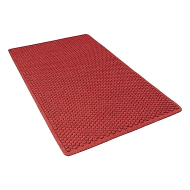 NoTrax® Aqua Trap® Tufted Polypropylene Yarn Superior Entrance Floor Mat, 3' x 4', Red/Black