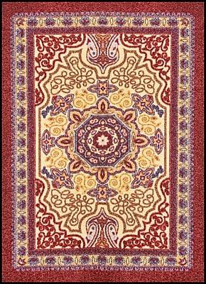 NoTrax® OrienTrax™ Nylon Fiber Specialty Entrance Floor Mat, 4' x 6', Burgundy