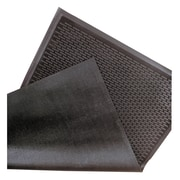 "NoTrax Soil Guard Rubber Entrance Mat 60"" x 36"", Black"