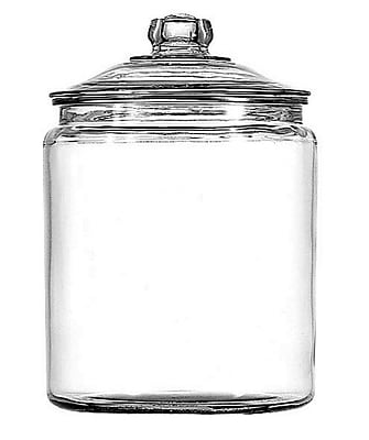 Image of Anchor Hocking 1 gal Glass Heritage Hill Jar With Glass Cover, Clear