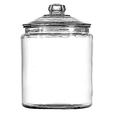 Anchor Hocking® 1 gal Glass Heritage Hill Jar With Glass Cover, Clear