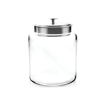 Anchor Hocking® 2 gal Glass Montana Jar With Silver Lid, Clear