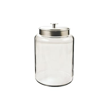 Anchor Hocking® 2.5 gal Glass Montana Jar With Silver Lid, Clear