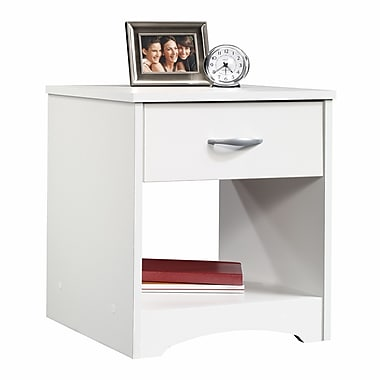 Sauder – Table de chevet Beginnings, blanc doux
