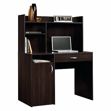 Sauder Computer Desk with Hutch, Cinnamon Cherry