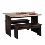 Sauder Beginnings Table with Benches, Cinnamon Cherry